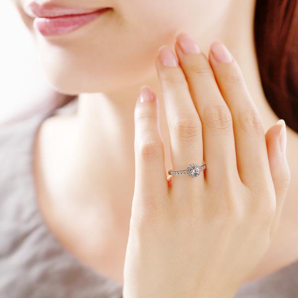 結婚婚約指輪を自宅でゆっくりフルオーダーのオリジナルデザイン